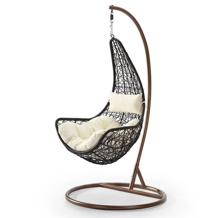 Outdoor Egg Swing Rattan Swing Chair Four Seaters Hanging