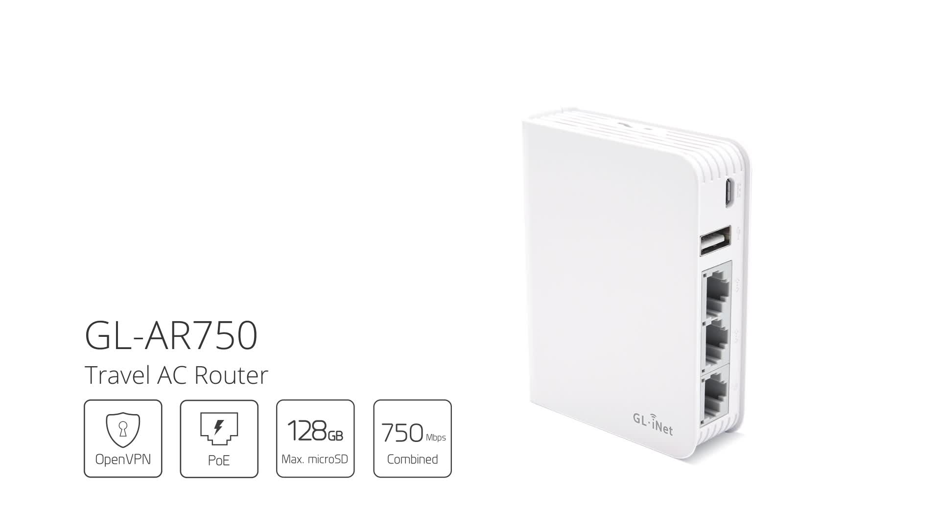Gl.inet Wifi 750m Wireless Ac For Travel As Vpn Router