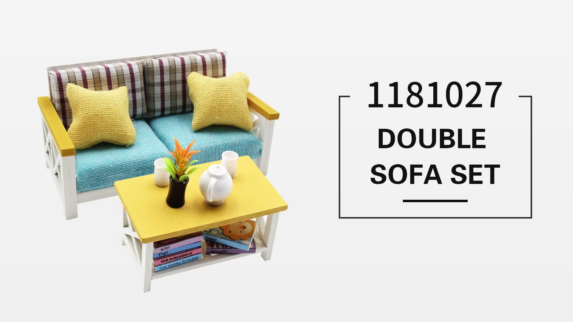 18 doll sofa diy kennedy stationary 1 scale wholesale house furniture miniature handmade