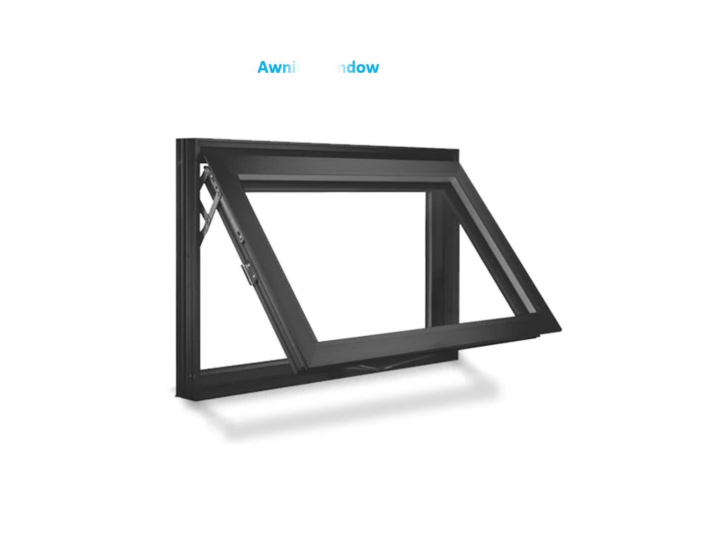 Latest Design Impact Resistant Square Awning Window Awning
