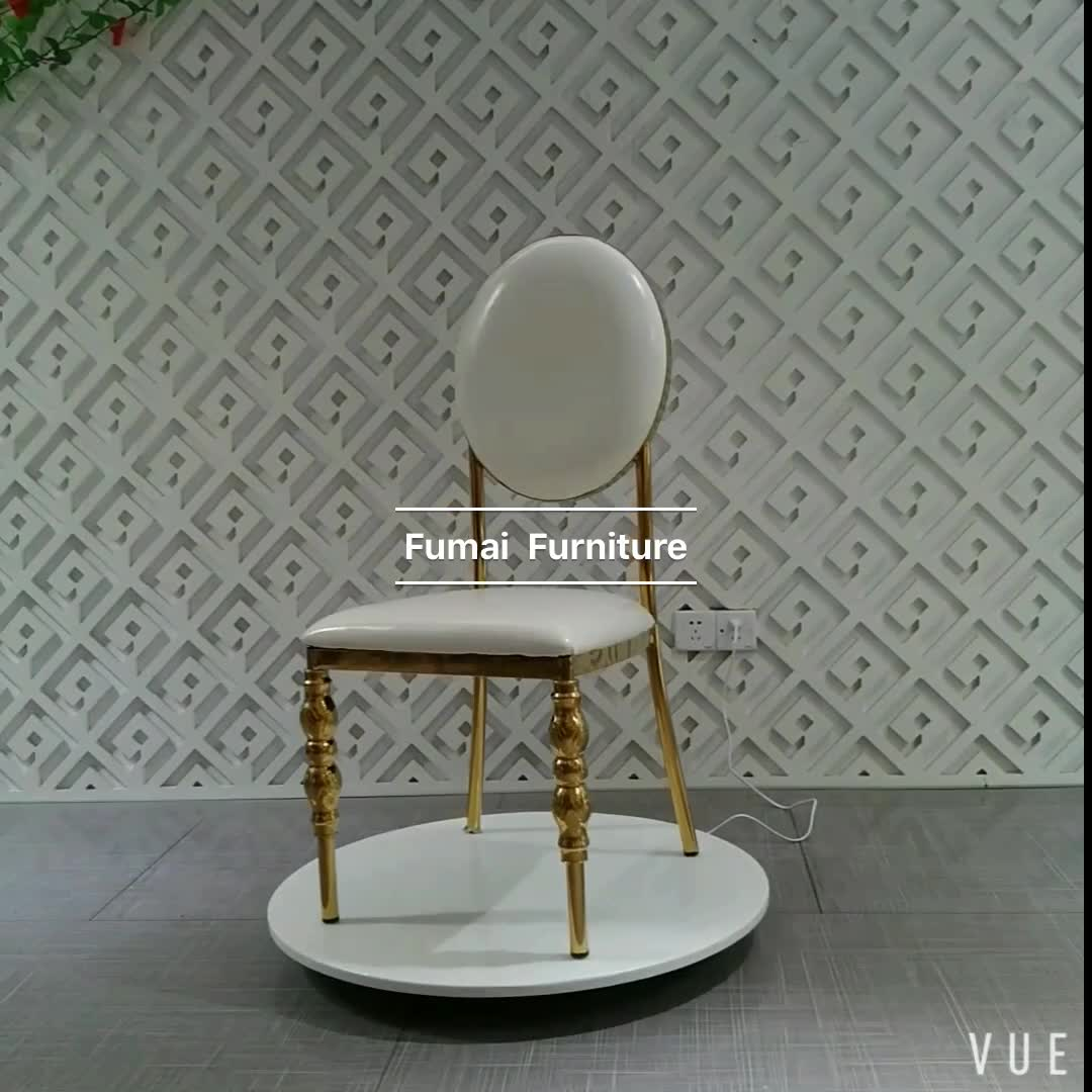 steel chair for hotel foldable office with wheels round back gold frame stainless furniture design
