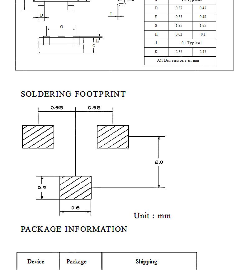 Risym S8550 2TY 三極管 貼片sot-23 晶體管 (50個)