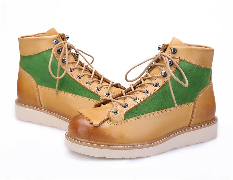 DANNER山脈之光馬丁靴子復古英倫風工裝短靴手工阿美咔嘰大黃靴