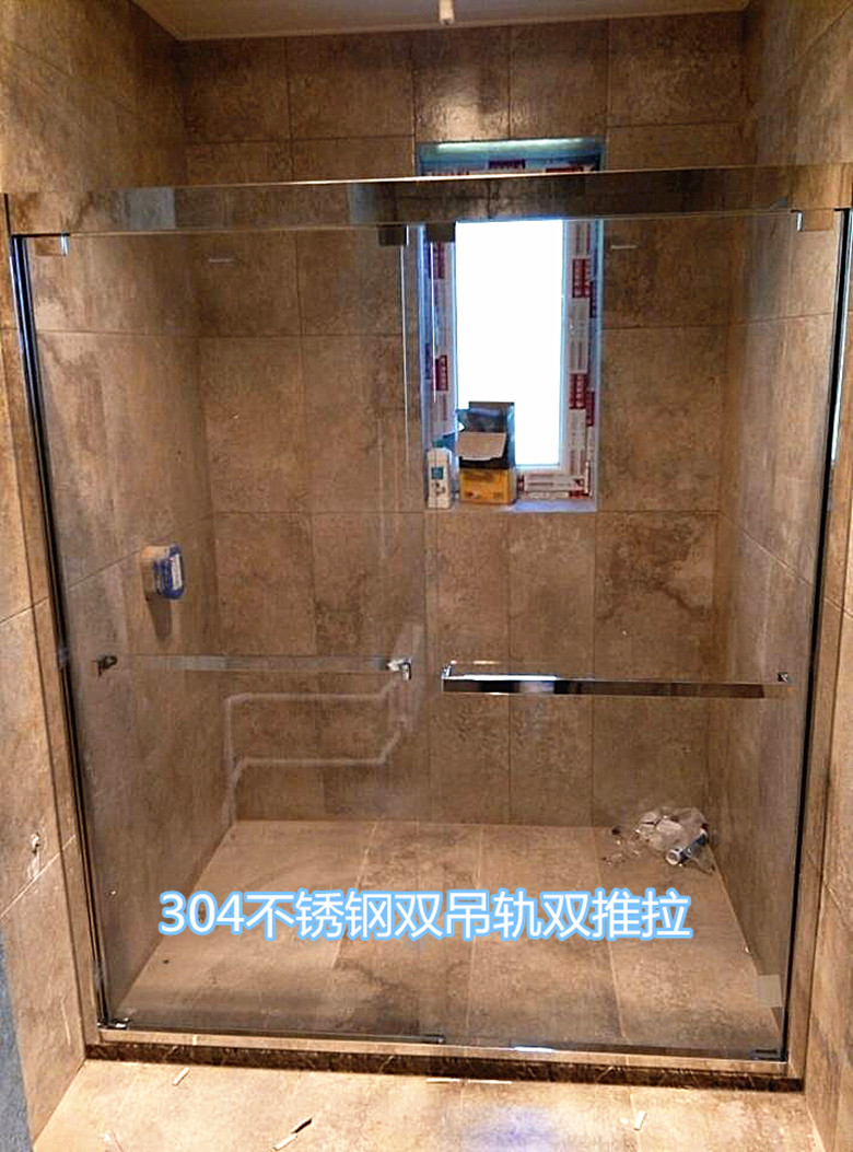 Usd 55 71 Make 304 Stainless Steel Shower Room Push And Pull Door Bathroom Glass Partition A Glyph Screen Bathroom Move Door Wholesale From China Online Shopping Buy Asian Products Online