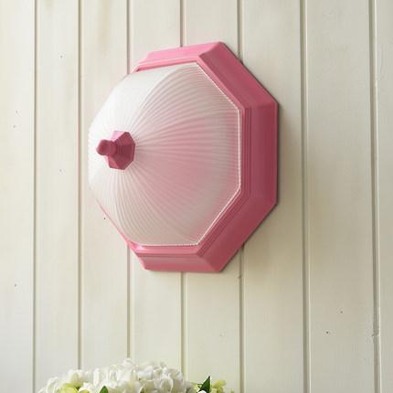 kitchen art cabinet paint ideas 田园美式简约小清新阳台过道玄关厨房艺术八角形铁艺led吸顶灯 tmall com天猫