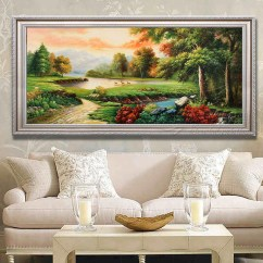 Feng Shui Art For Living Room Accessories 2018 Usd 128 21 Pure Hand Painted European Landscape Oil Painting Cornucopia Background Wall
