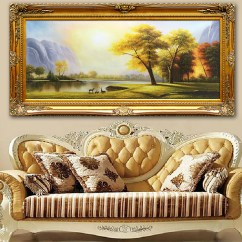 Painting For Living Room Feng Shui Wood Furniture Usd 107 50 Hand Painted European Style Cornucopia Landscape Lucky Single