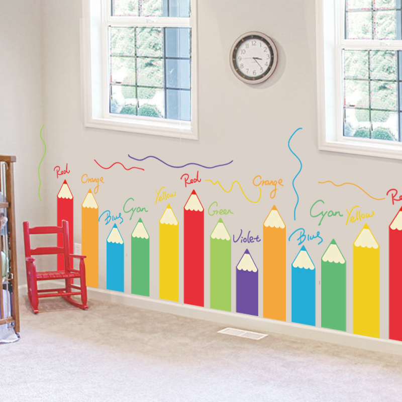 Cartoon colorful painting brush children's room