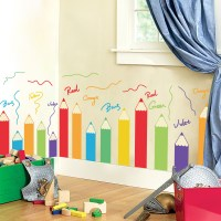 Cartoon colorful brush Children's room kindergarten
