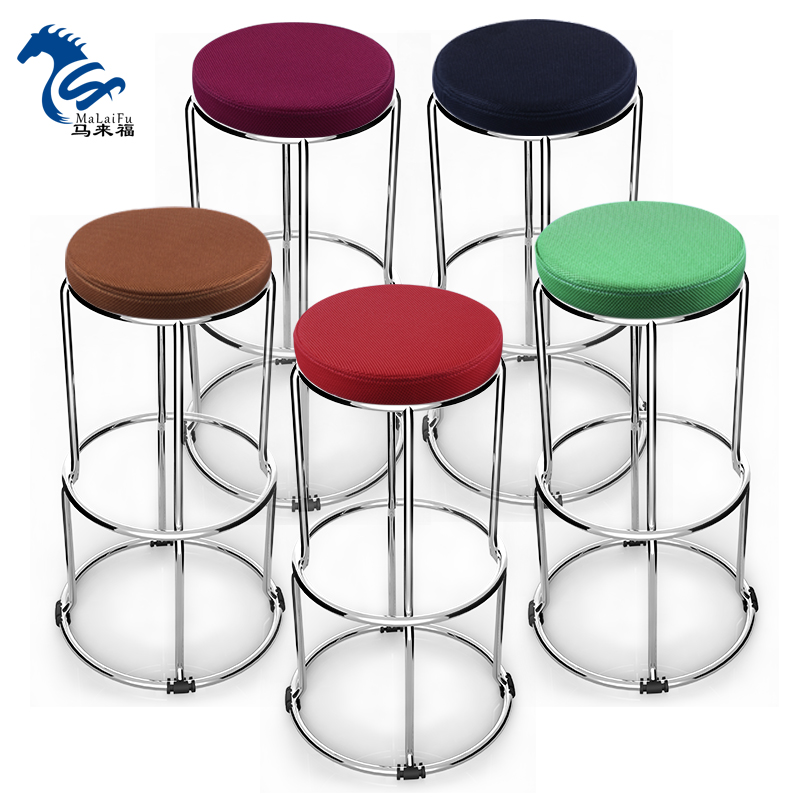 folding chair round rental nyc usd 61 67 fashion simple stool creative color thickening cloth mesh high stainless steel