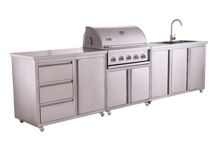 grill for outdoor kitchen cheap makeover miecns 美诺仕304不锈钢户外烧烤厨房户外不锈钢烧烤炉烧烤车 tmall com天猫