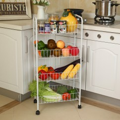 Kitchen Fruit Basket Glass Knobs Usd 17 29 Vegetable Rack Mobile Storage Shelf Finishing Cart Racks