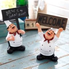 Kitchen Chef Decor Cabinet Corner Shelf 创意美式乡村厨师装饰品摆件厨房餐厅餐桌饭店酒店咖啡厅人物摆设 Tmall