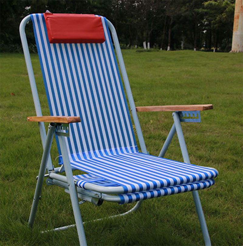 folding chair nylon best adirondack chairs usd 24 13 beach reclining lunch break red diamond king lounge