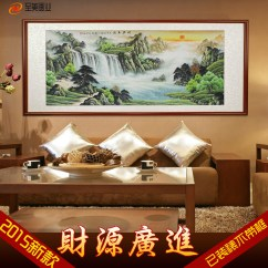 Painting For Living Room Feng Shui Designs Indian Apartments Usd 18 95 Lucky Landscape Cornucopia Of Chinese Water Money Waterfall