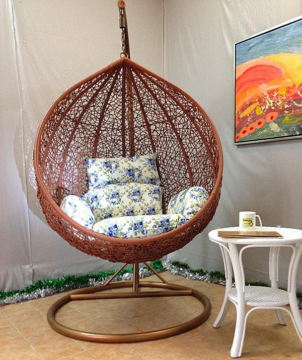 hanging chair swing bean bag lounger usd 107 50 outdoor indoor balcony basket rattan bird s nest cradle