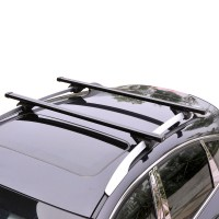 2X Black Roof Rack Crossbar Rack Roof Carrier For Subaru