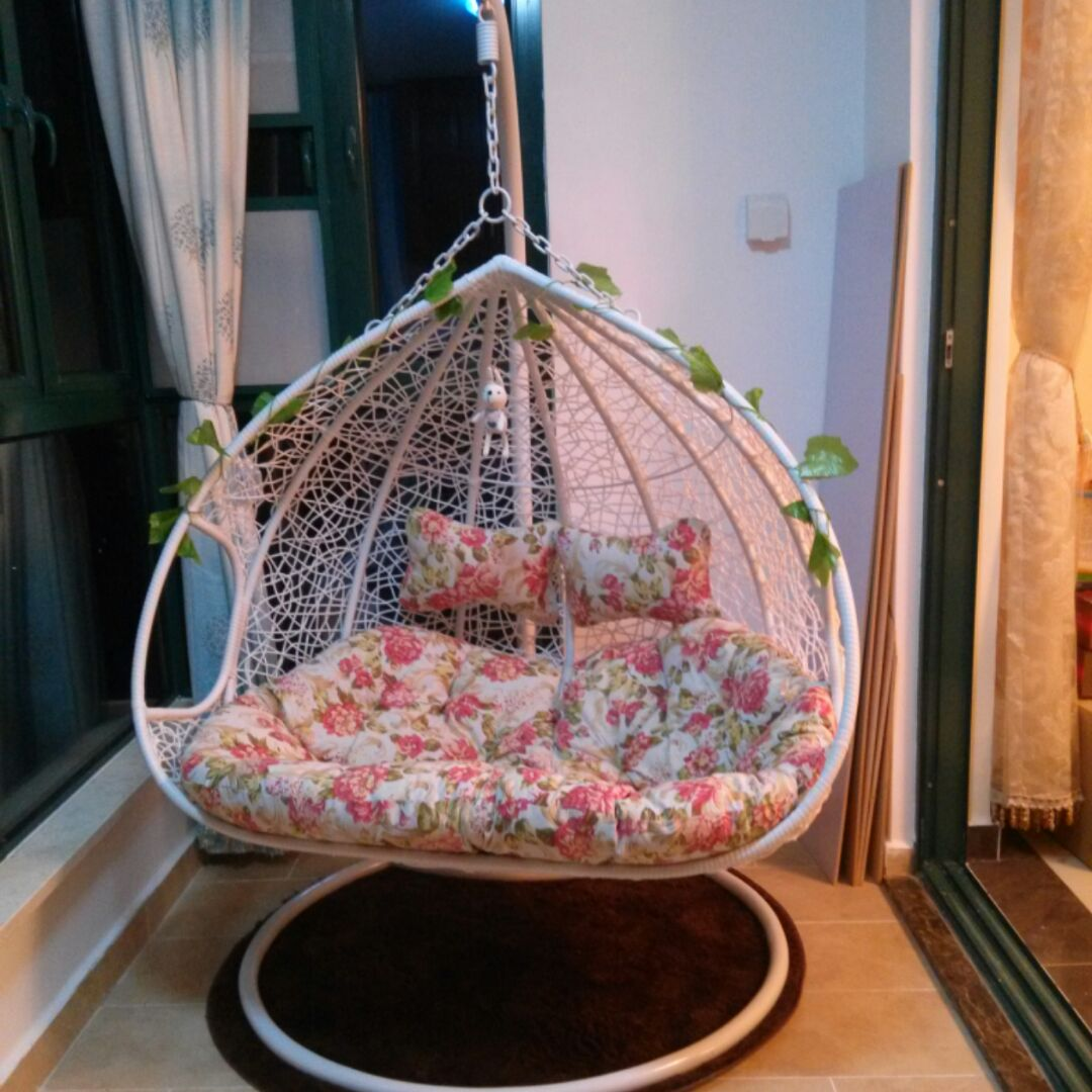 Bird Nest Chair Hanging Basket Rattan Chair Princess Indoor Double Balcony Small Cradle Chair Shake Sound Lazy Bird Nest Home Net Red Swing Chair