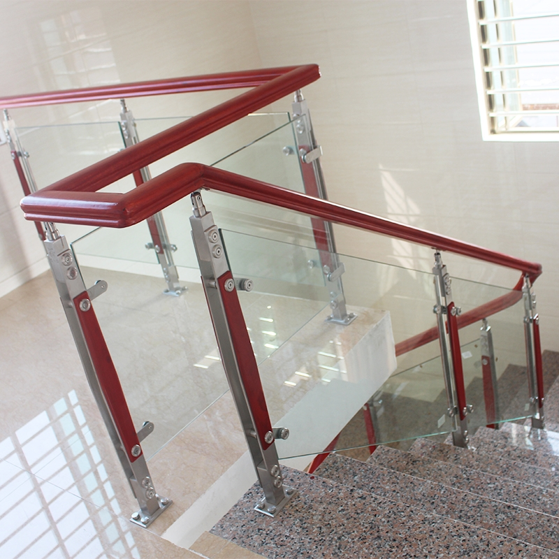 Usd 46 65 Stair Handrails Glass Stairs Handrails Wood Railings | Glass Railing With Wood Handrail | Modern | Interior | Panel | Metal | Residential