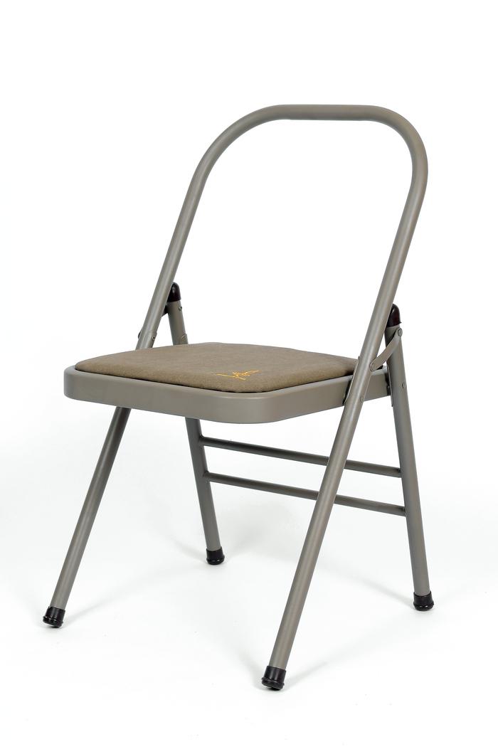 folding metal yoga chair masters chairs usd 50 02 new iyengar auxiliary time plus hard