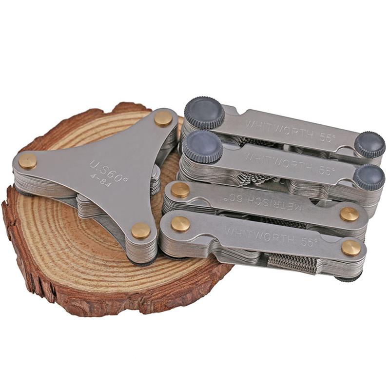 螺紋規公制英制美製一體式螺紋樣板羅紋樣板牙距牙規55度60度測量