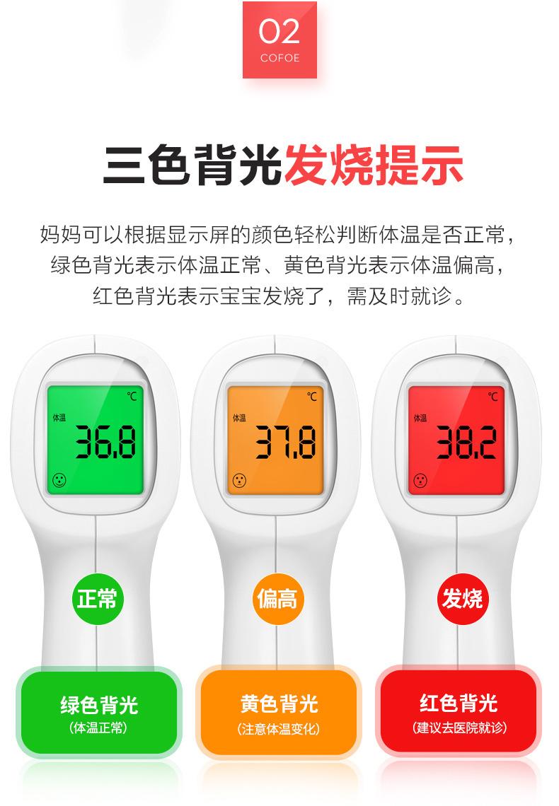 嬰兒電子紅外線溫度計兒童家用醫用高精度精準手腕額頭額溫體溫槍
