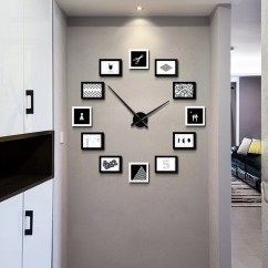 Living Room Wall Clocks Show Me Pictures Usd 99 21 Design Sense Of Modern Simple Fashion Clock Nordic Creative Personality Diy Watch Silent