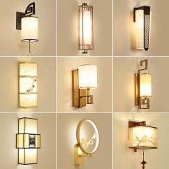 Wall Lamps Living Room Curtain Designs For Photos Usd 101 80 New Chinese Style Lamp Bedside Bedroom Modern Minimalist Aisle Retro