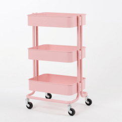 Kitchen Cart Table Contractor 原版拉斯克手推车厨房推车床边置物架三层小推车家庭家居床头桌