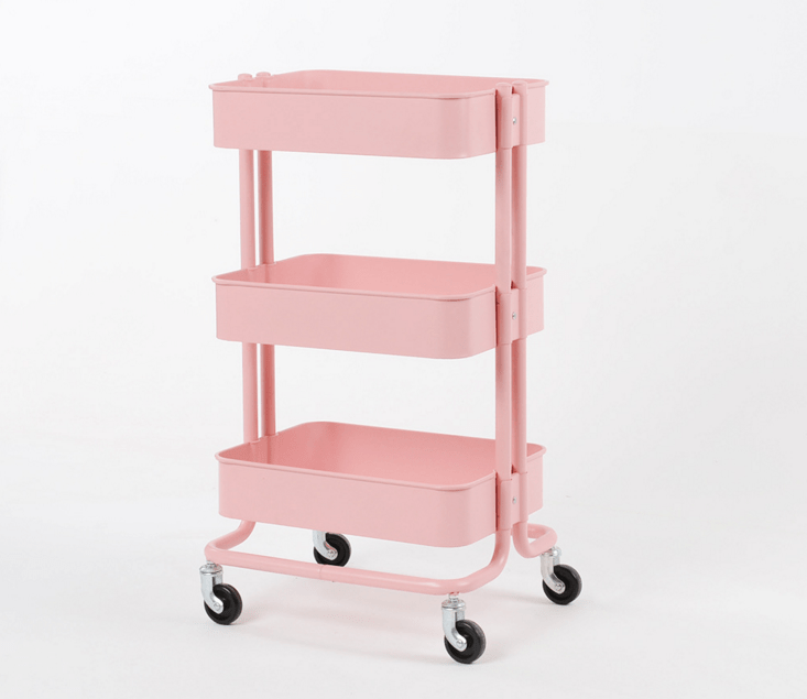 kitchen cart table country chairs 原版拉斯克手推车厨房推车床边置物架三层小推车家庭家居床头桌