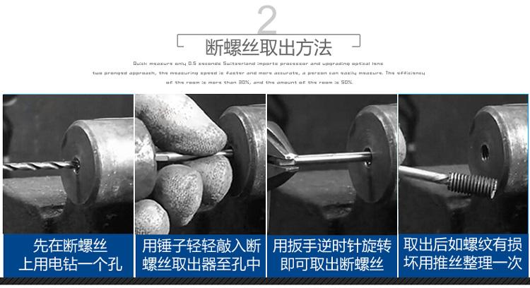 水龍頭斷絲取出器三角閥水管斷管斷頭滑牙螺絲攻絲錐4分6分水管取