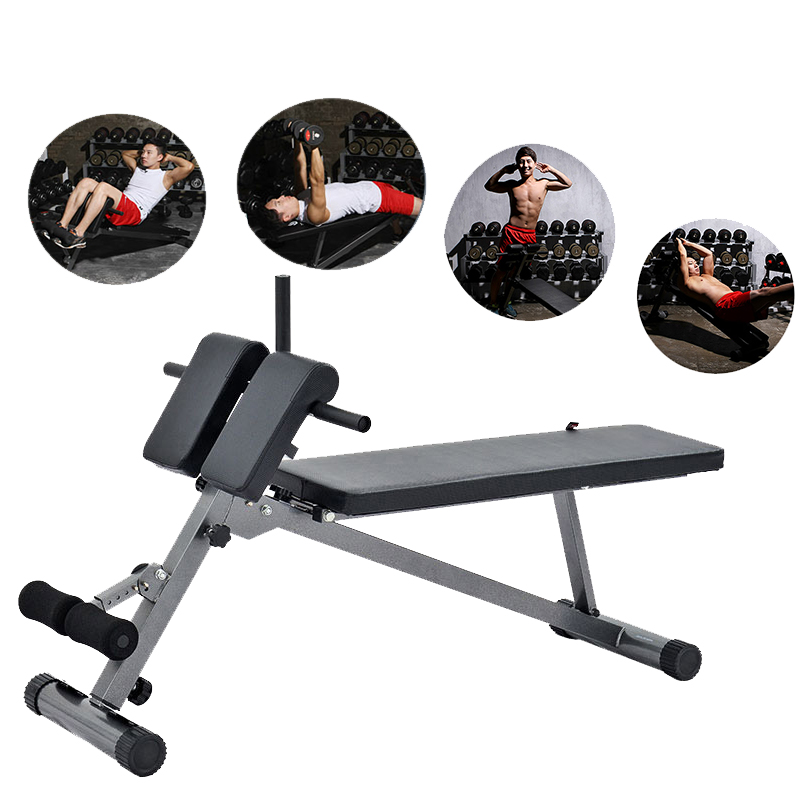 commercial gym roman chair red rocking supine board stool fitness goat body waist home abdominal machine equipment