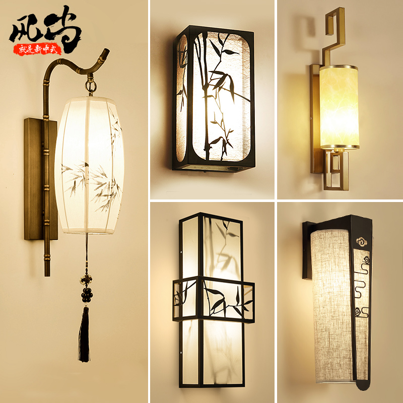 wall lamps for living room prints uk usd 44 32 new chinese led lamp bedroom bedside hotel aisle balcony stairs background