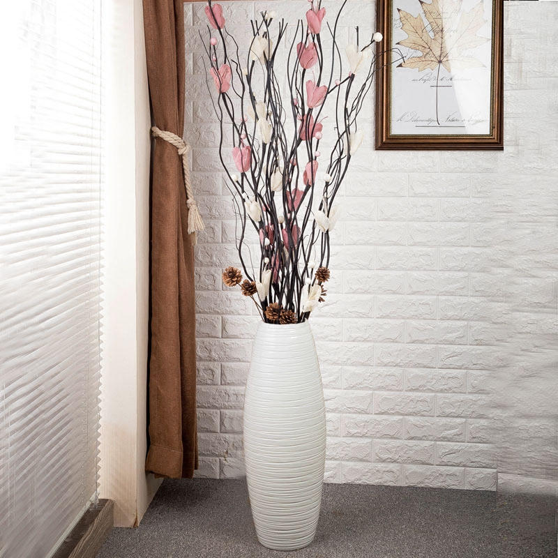 large vase for living room microfiber swivel chairs furniture usd 59 86 jingdezhen ceramic decoration dry flower arrangement new home european simple modern high landing