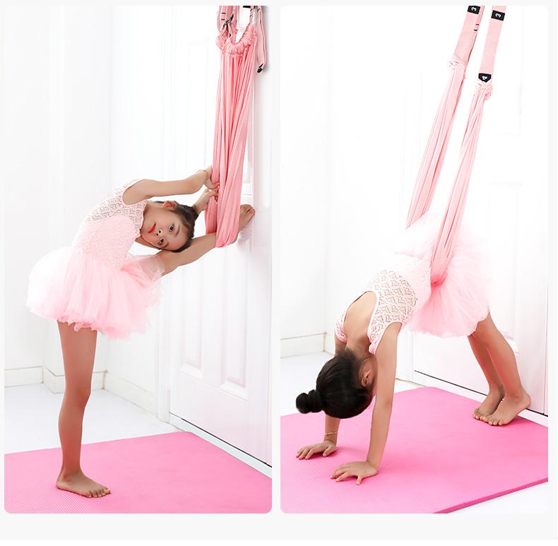 一字馬開胯彈力拉筋後彎下腰訓練器空中瑜伽繩門上倒立繩拉伸展帶