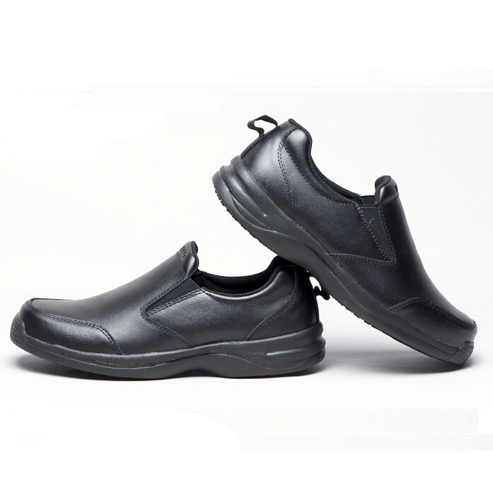 non slip work shoes for kitchen hickory cabinets wako mens leather chef nonslip safety ...