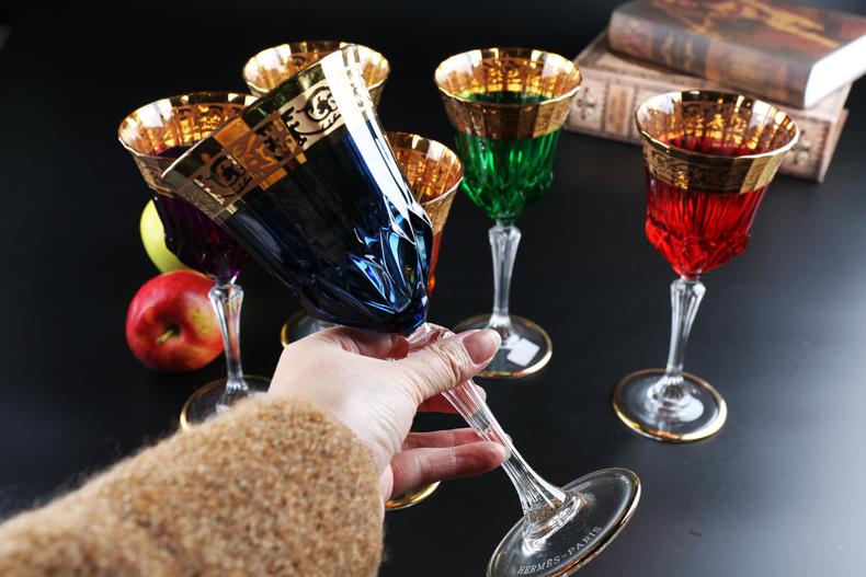 捷克進口BOHEMIA波西米亞水晶玻璃威士忌杯 水晶紅酒杯 洋酒杯