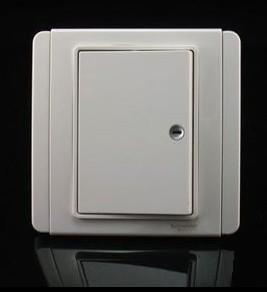 正品施耐德奇勝clipsal開關插座都會E3000一位單聯單控LED燈白色