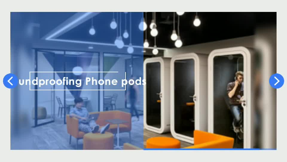 china sofa fabric sofas types office phone booth meeting pods with sound absorbing ...