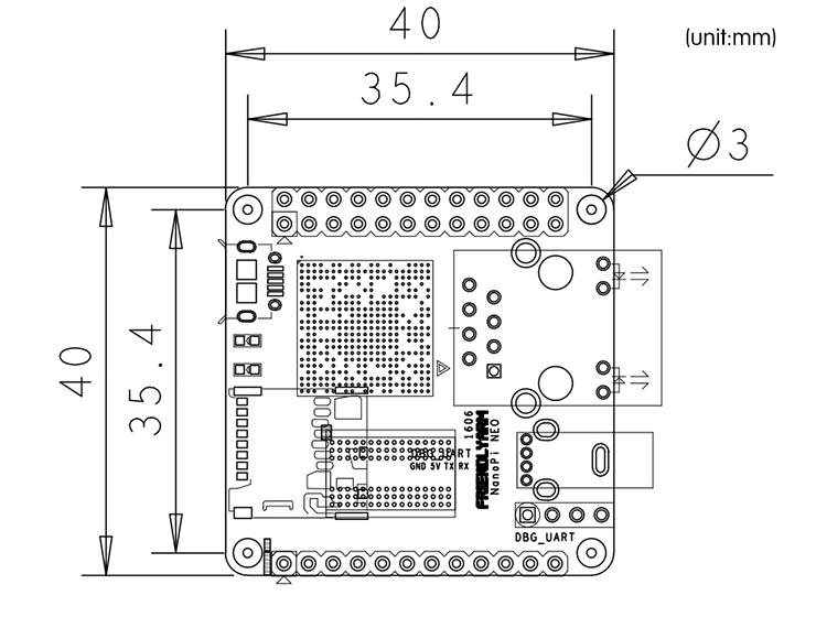 NanoPi NEO 512MB PC Allwinner H3 Ubuntu Core Compatible