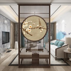 Decorative Screens For Living Rooms Wall Tiles Design Small Room Usd 666 79 Solid Wood Screen Partition Bedroom Restaurant Chinese Entrance Round Fence Simple