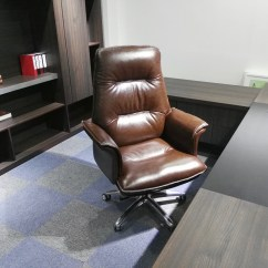 Comfortable Home Office Chair Covers Pictures Usd 133 39 Leather Boss Large Computer Reclining