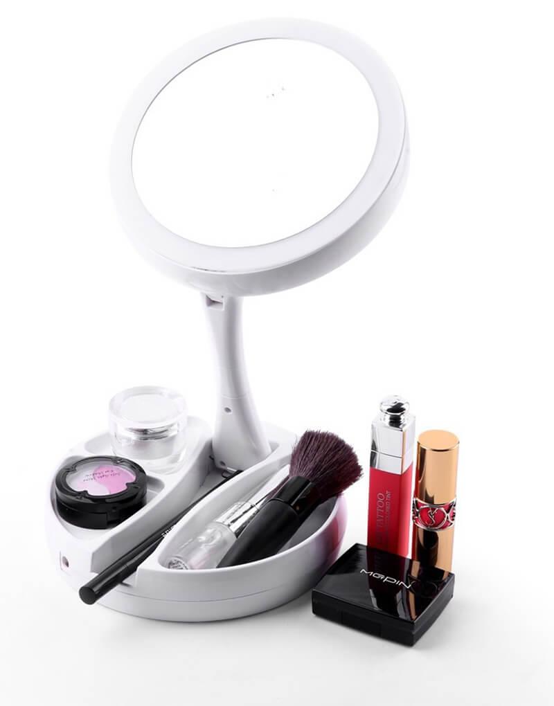 LED燈光立式雙面化妝鏡