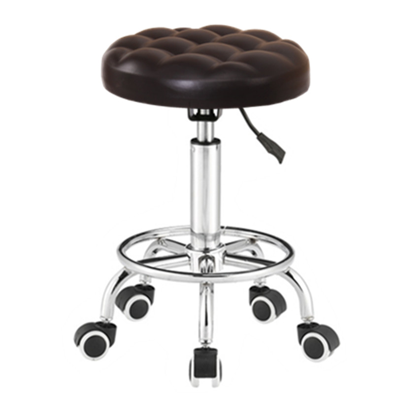 small round chair red chairs sarajevo usd 50 54 bar stool lift rotating barber shop beauty disc mobile roll pulley large