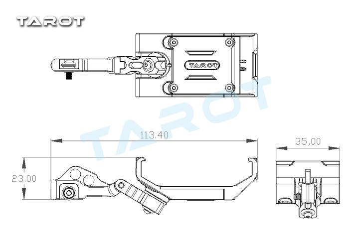 Tarot Phone/Pad Holder for JR Transmitter TL2972 [TL2972