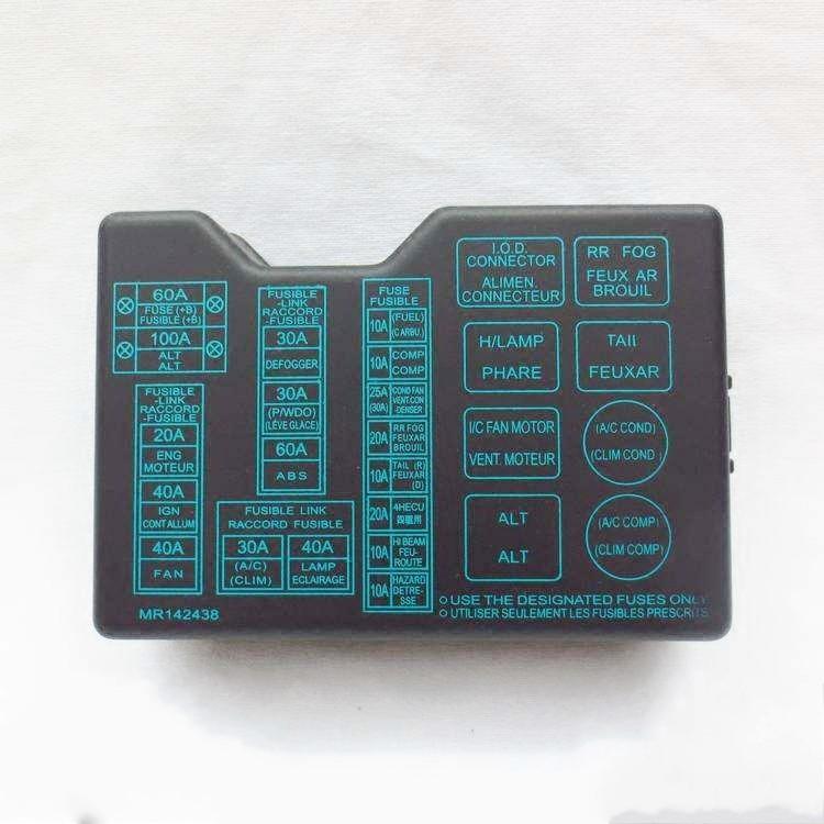 Fuse Box Diagram 1994 Mitsubishi Pajero