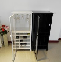 Dry Bar Wine Storage Cabinet Cupboard End Table Wine ...
