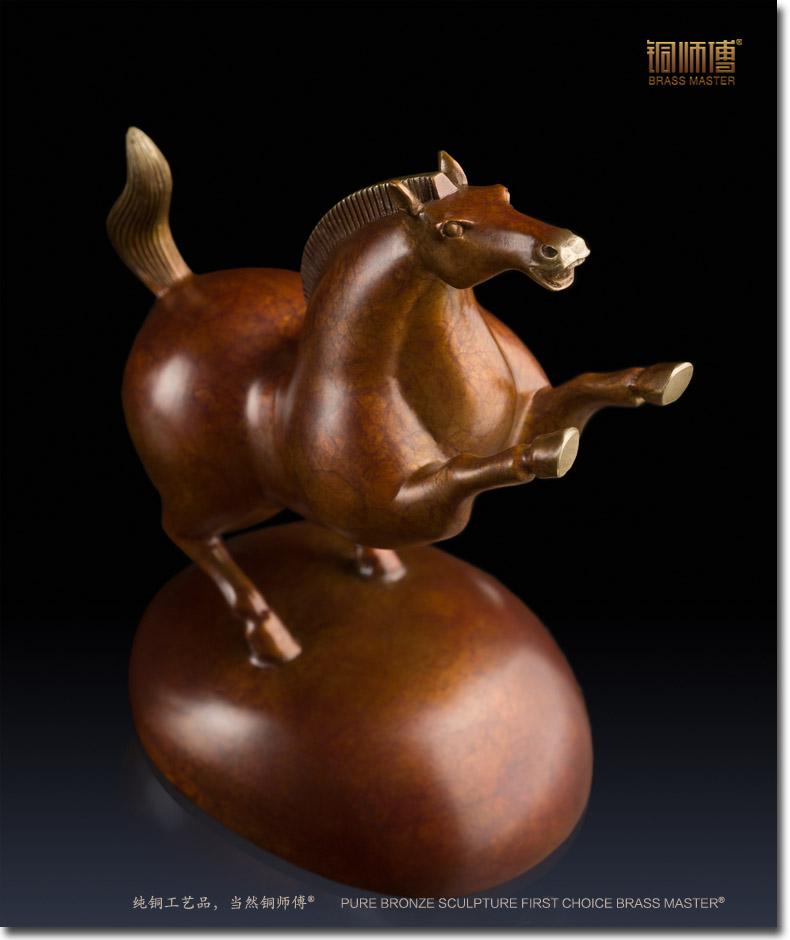 Maison de poupées Bronze Galop Cheval Ornement