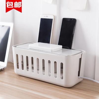 家用電線收納盒桌面電源線延長線充電器集理線盒插座插排收納整理盒