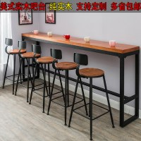 Solid wood bar table high table bar Table Retro Caf wall ...